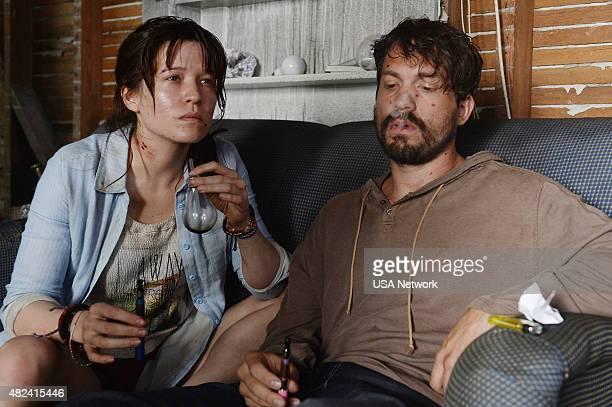 GRACELAND Savior Complex Episode 308 Pictured Chelle Ramos as Lara Steven Galarce as Sascha