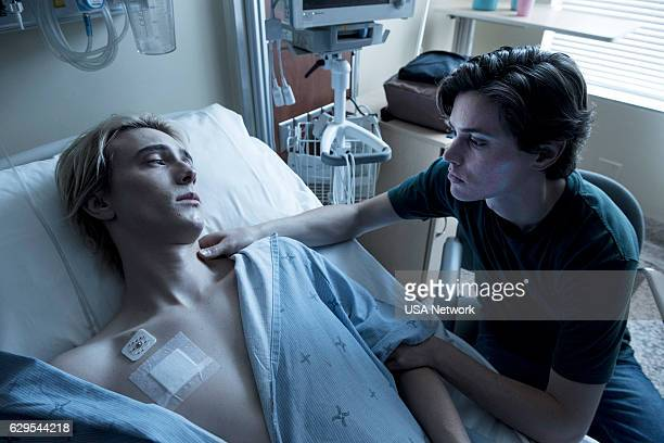 EYEWITNESS Savior Unknown Episode 109 Pictured James Paxton as Lukas Waldenbeck Tyler Young as Philip Shea