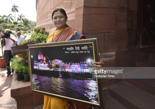 Savitri Thakur BJP leader from Gujarat is going to present the picture of River Narmada to Prime Minister Narendra Modi as Gujarat facing the flood...