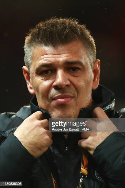 Savo Milosevic the head coach / manager of FK Partizan Belgrade during the UEFA Europa League group L match between Manchester United and Partizan at...