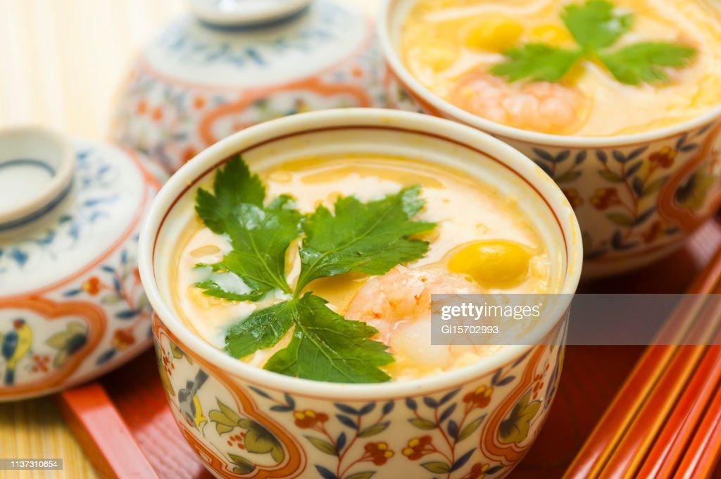 Savory egg custard : Stock Photo