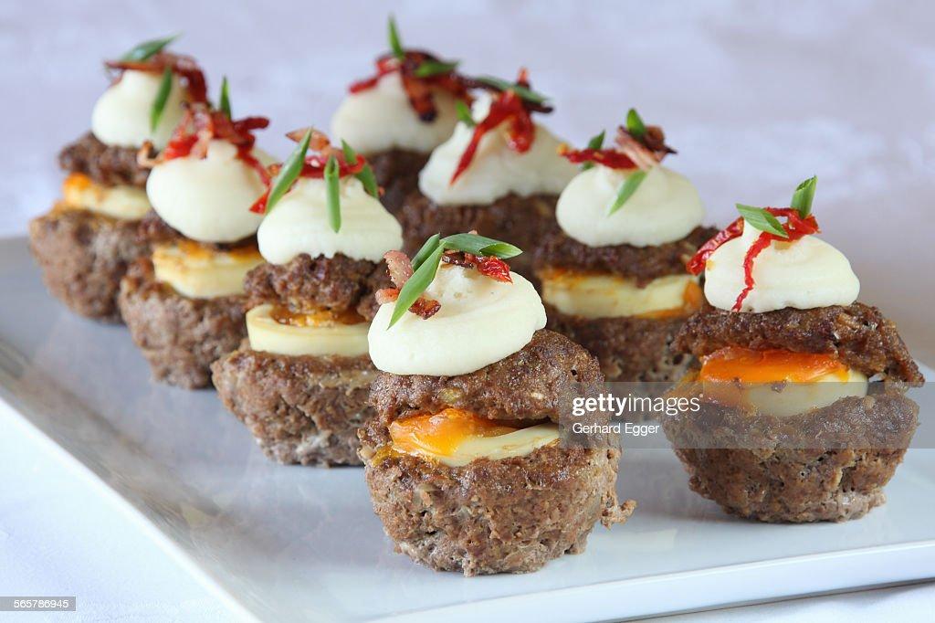 Savoury cupcakes : Stock Photo