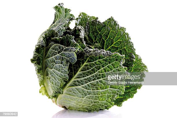 savoy cabbage, close-up - cabbage stock pictures, royalty-free photos & images