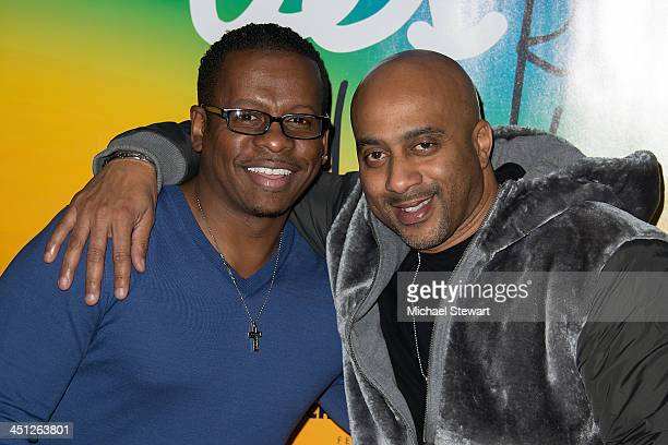 """Savoy Walker and Mark Forrest attend the """"Lies My Father Told Me"""" Opening Night at Baruch Performing Arts Center on November 21, 2013 in New York..."""