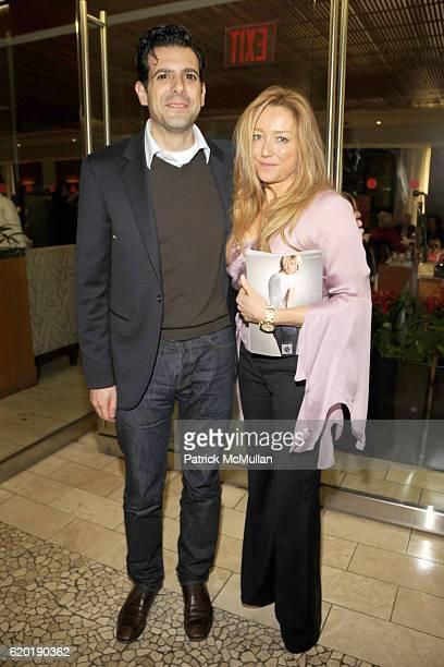 Savvas Kaminarides and Caroline Berthet attend ELLE Magazine MOSCHINO Host a Dinner Celebrating Simon Doonan's Newest Tome Eccentric Glamour at...