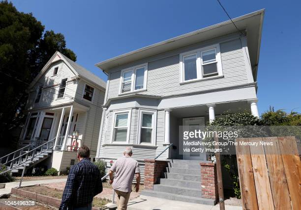 BERKELEY CA SEPTEMBER 19 Savvy Properties coowners John Steuart right and Michael Kraszulyak check out one of their properties at 2211 Haste Street...
