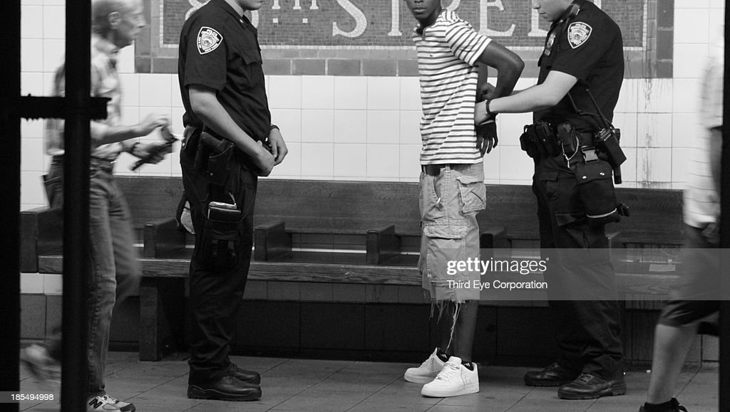 Stop-and-Frisk in NYC near Go-and-Frolic : News Photo