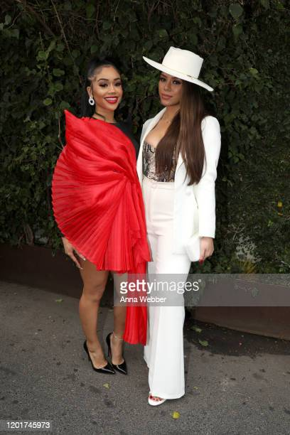 Saweetie and Dinah Jane attend the Instagram Facebook Women in Music Luncheon at Ysabel on January 24 2020 in West Hollywood California