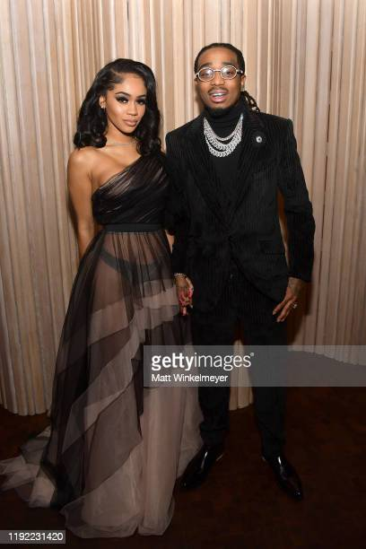 Saweetie and Quavo attend the 2019 GQ Men of the Year celebration at The West Hollywood EDITION on December 05, 2019 in West Hollywood, California.