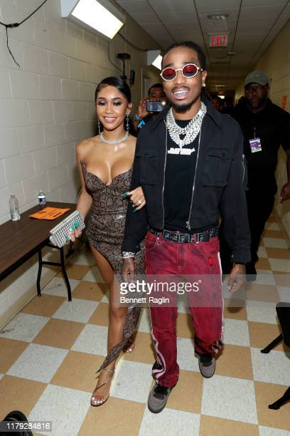 Saweetie and Quavo attend the BET Hip Hop Awards 2019 at Cobb Energy Center on October 05 2019 in Atlanta Georgia