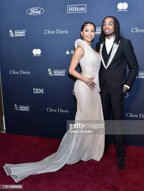 """Saweetie and Quavo attend the Pre-GRAMMY Gala and GRAMMY Salute to Industry Icons Honoring Sean """"Diddy"""" Combs on January 25, 2020 in Beverly Hills,..."""