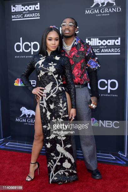 Saweetie and Quavo of Migos attend the 2019 Billboard Music Awards at MGM Grand Garden Arena on May 1 2019 in Las Vegas Nevada