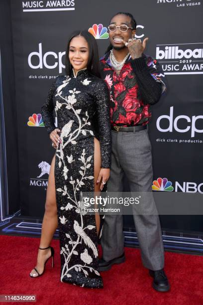 Saweetie and Quavo of Migos attend the 2019 Billboard Music Awards at MGM Grand Garden Arena on May 01 2019 in Las Vegas Nevada