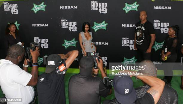 Saweetie arrives to the 2019 BET Hip Hop Awards on October 05 2019 in Atlanta Georgia