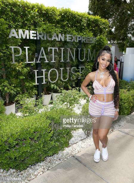 Saweetie at the American Express Platinum House at the Avalon Hotel Palm Springs on April 14 2019 in Palm Springs California