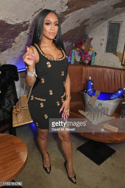Saweetie attends as CIROC x Moschino celebrate Pride In London with the hottest party of the summer hosted by Jeremy Scott at MNKY HSE on July 4 2019...
