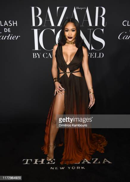 Saweetie attends as Harper's BAZAAR celebrates ICONS By Carine Roitfeld at The Plaza Hotel presented by Cartier Arrivals on September 06 2019 in New...