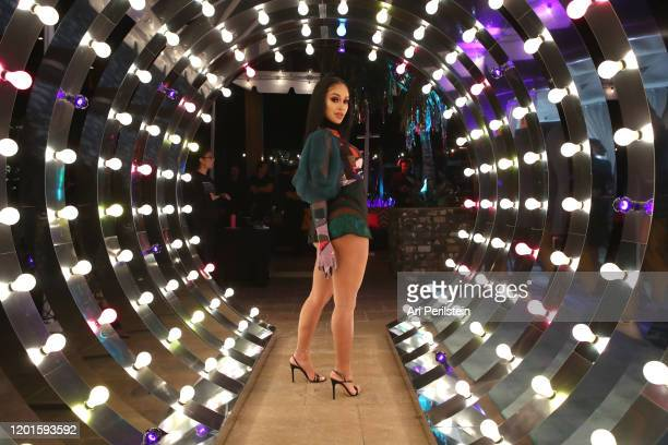 Saweetie attends Birds Of Prey A Night Of Music And Mayhem In HARLEYWOOD at DREAM Hollywood on January 23 2020 in Hollywood California