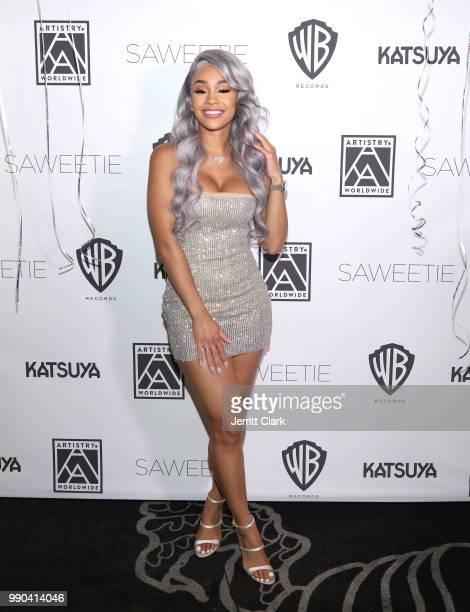 Saweetie attends her Birthday Dinner at Katsuya on July 2 2018 in Los Angeles California