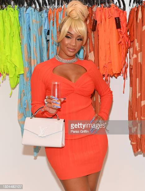 Saweetie attends Saweetie x Matte Collection Launch at Matte Collection Store Phipps Plaza on June 19, 2021 in Atlanta, Georgia.