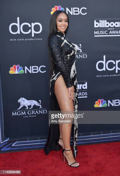 Saweetie attends the 2019 Billboard Music Awards at MGM Grand Garden Arena on May 1 2019 in Las Vegas Nevada