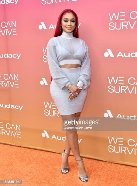 """Saweetie attends the 8th Annual """"We Can Survive"""" Concert hosted by Audacy at Hollywood Bowl on October 23, 2021 in Los Angeles, California."""