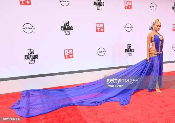 Saweetie attends the BET Awards 2021 at Microsoft Theater on June 27, 2021 in Los Angeles, California.