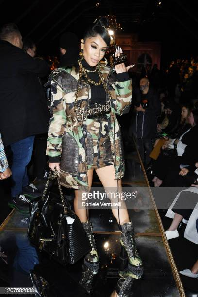 Saweetie attends the Moschino fashion show on February 20 2020 in Milan Italy
