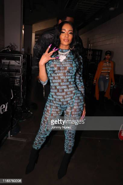 Saweetie backstage during Power 105.1's Powerhouse 2019 at Prudential Center on October 26, 2019 in Newark, New Jersey.