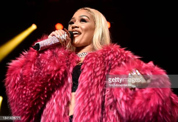 Saweetie performs during the 2021 Lights On music festival at Concord Pavilion on September 19, 2021 in Concord, California.