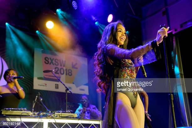 Saweetie performs onstage at Pandora during SXSW at The Gatsby on March 14 2018 in Austin Texas