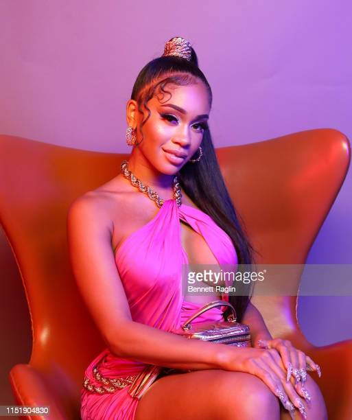 Saweetie poses for a portrait during the BET Awards 2019 at Microsoft Theater on June 23 2019 in Los Angeles California