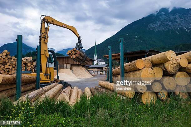 Sawmill at the roadside