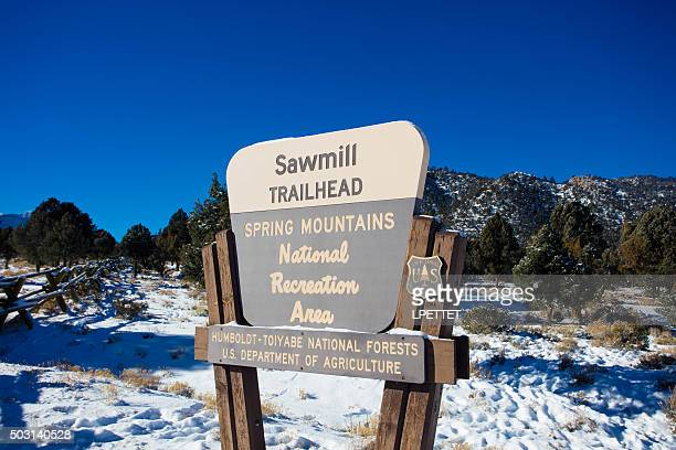 sawmill trailhead - mount charleston - mt charleston stock photos and pictures