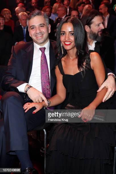 Sawsan Chebli and her husband Niza Maarouf during the Ein Herz Fuer Kinder Gala show at Studio Berlin Adlershof on December 8 2018 in Berlin Germany