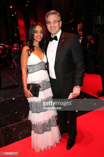 Sawsan Chebli and her husband Nizar Maarouf during the 26th Opera Gala party at Deutsche Oper Berlin on November 2 2019 in Berlin Germany
