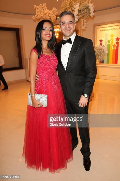 Sawsan Chebli and her husband Nizar Maarouf during the 66th 'Bundespresseball' at Hotel Adlon on November 24 2017 in Berlin Germany