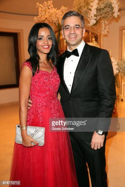 Sawsan Chebli and her husband Nizar Maarouf during the 66th 'Bundespresseball' at Hotel Adlon on November 24 2017 in Berlin Germany
