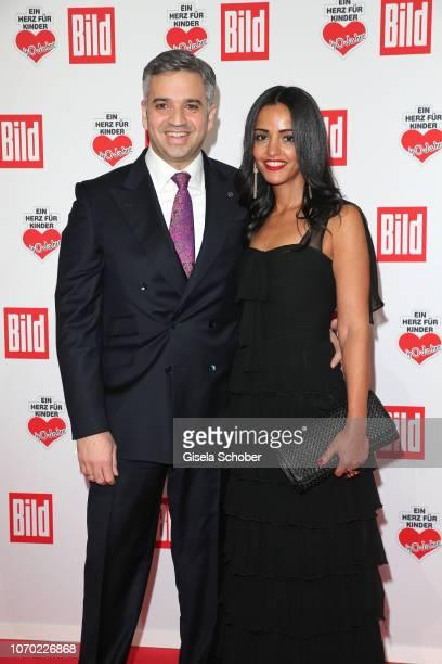 Sawsan Chebli and her husband Nizar Maarouf during the Ein Herz Fuer Kinder Gala at Studio Berlin Adlershof on December 8 2018 in Berlin Germany