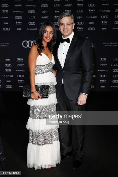 Sawsan Chebli and Nizar Maarouf during the 26th Opera Gala at Deutsche Oper Berlin on November 2 2019 in Berlin Germany