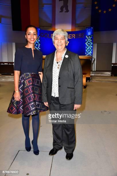 Sawsan Chebli and Seyran Ates attend the Goldene Erbse Award 2017 on November 20 2017 in Berlin Germany