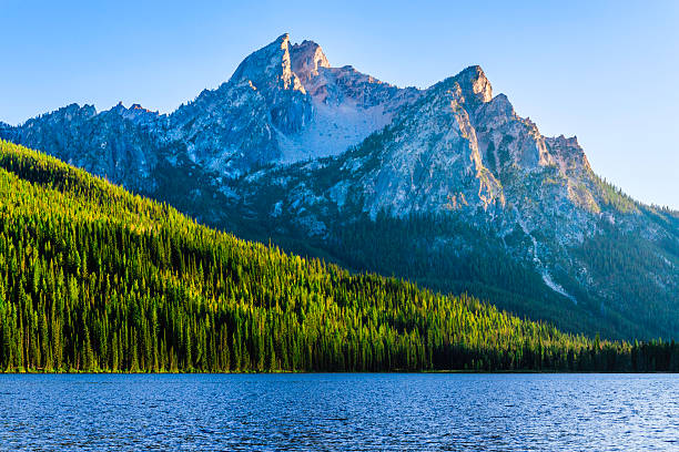 Sawtooth Mountains and Stanley Lake