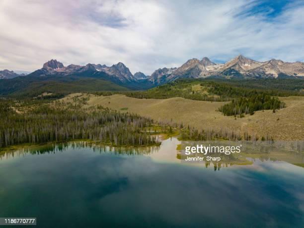sawtooth mountains idaho - jennifer roa foto e immagini stock