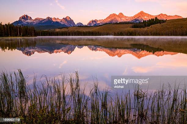 sawtooth sunrise - idaho stock pictures, royalty-free photos & images