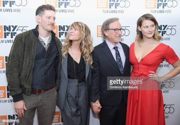 Sawyer Avery Spielberg Kate Capshaw Steven Spielberg and Destry Allyn Spielberg attend 55th New York Film Festival screening of Spielberg at Alice...