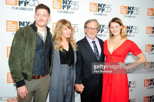 Sawyer Avery Spielberg Kate Capshaw Steven Spielberg and Destry Allyn Spielberg attend the 55th New York Film Festival Spielberg at Alice Tully Hall...