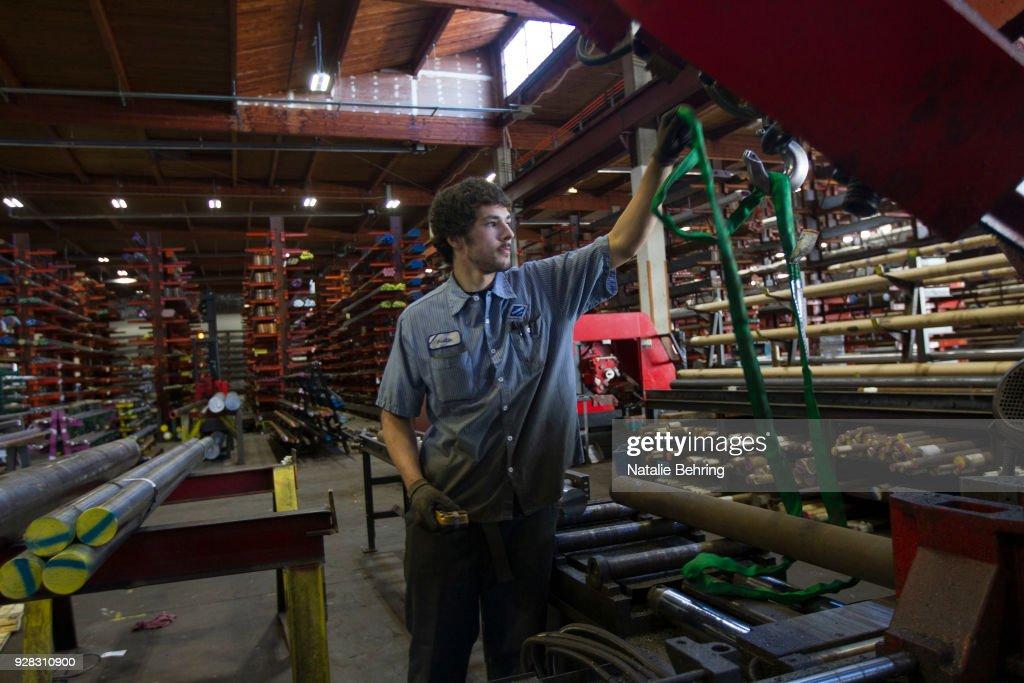 U.S. Steel Companies Set To Benefit From Trump Tariff Implementation : News Photo