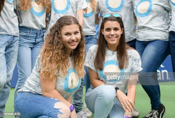 Sawyer Garrity and Andrea Pena of Shine MSD from Marjory Stoneman Douglas High School attend the 2018 Arthur Ashe Kids' Day at USTA Billie Jean King...
