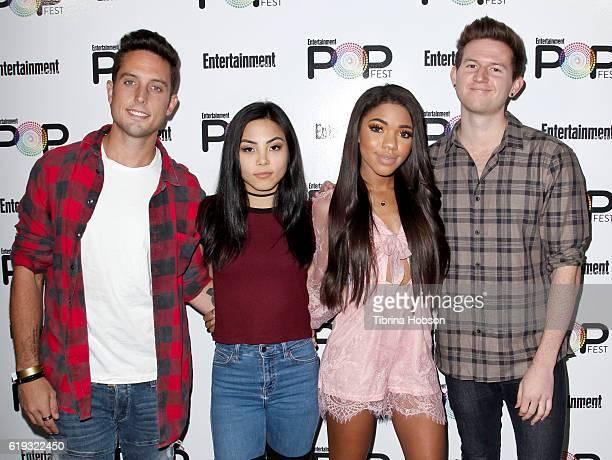 Sawyer Hartman Anna Akana Teala Dunn and Ricky Dillon attend Entertainment Weekly's Popfest at The Reef on October 29 2016 in Los Angeles California