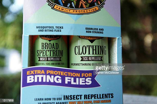 Sawyer Insect and Tick repellent is shown June 14 2001 in Boston MA Sawyer Tick repellent claims to help prevent Lyme Disease caused by the bite of a...